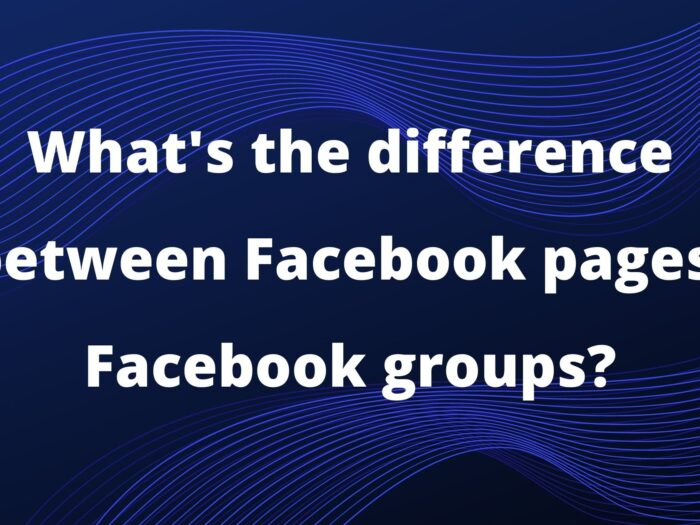 what's the difference between facebook pages and facebook groups